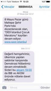 zweite sms