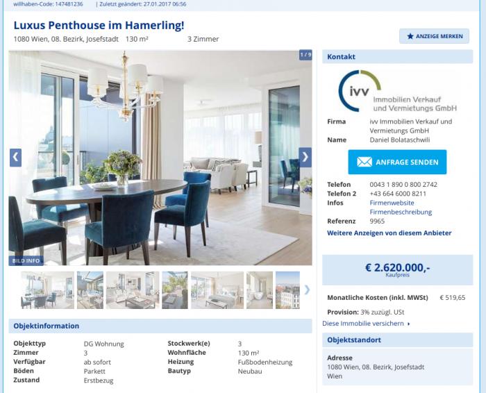 Aus Sozialer Nutzung werden Luxus Penthouses im Hamerling