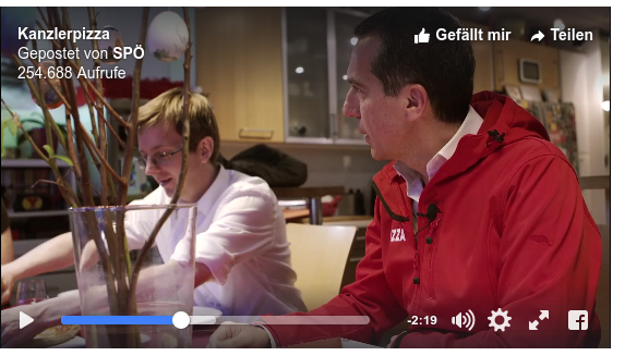 Christian Kern als Pizza Zusteller