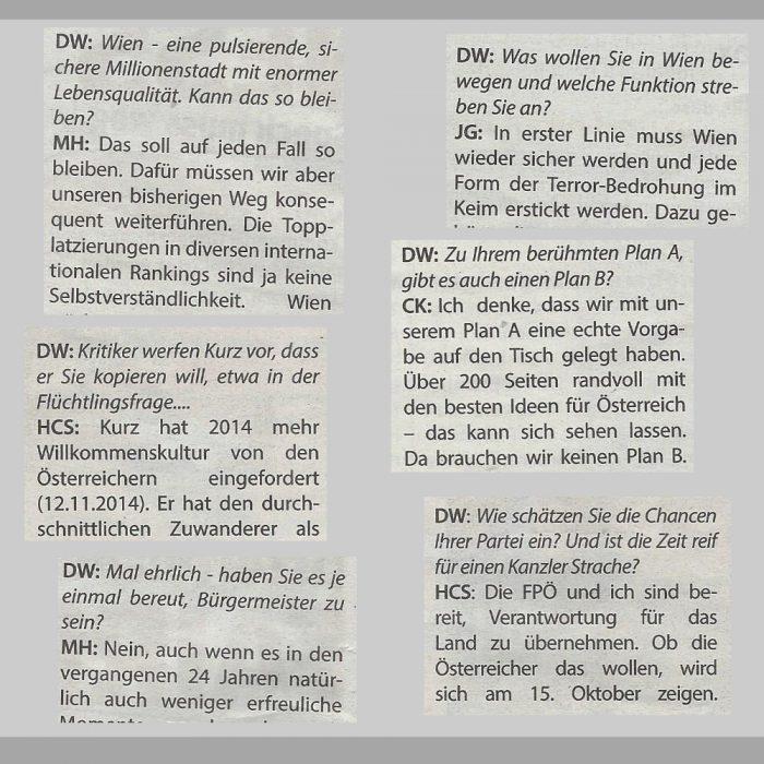 Mikrofonhalter-Interviews