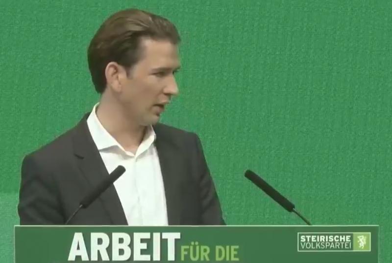 Sebastian Kurz ÖVP Parteitag