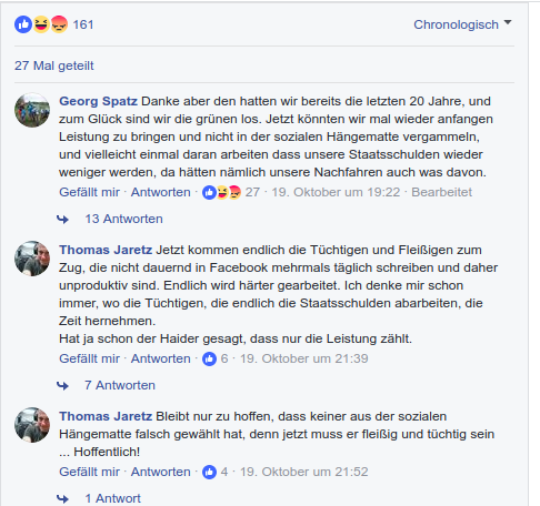 Facebook-Posting Die Volksstimme vom 23.10.2017