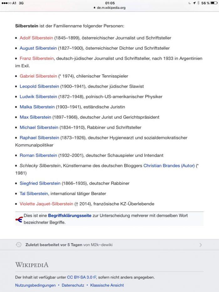 """""""Die Silbersteins"""""""