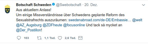 weet Schwedenbotschaft
