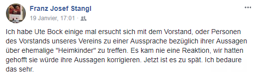 Facebookpost Stangl
