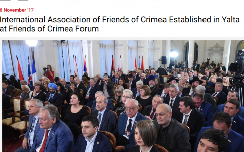 International Association of Friends of Crimea Established in Yalta at Friends of Crimea Forum