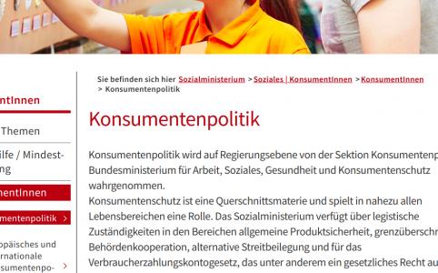 Hartinger-Klein Konsumentenschutz