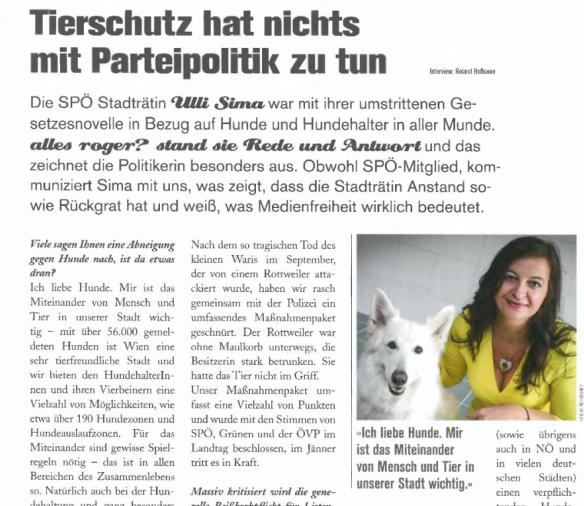 """Ulli Sima: """"Ich liebe Hunde""""."""