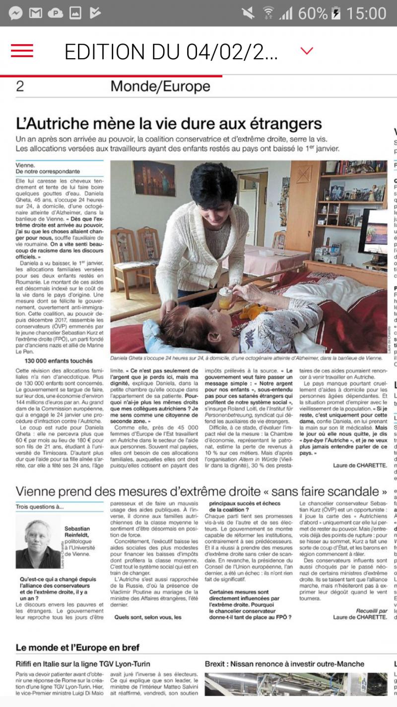 l Autriche mene la vie dure aux etrangers + ITW sebastian reinfeldt