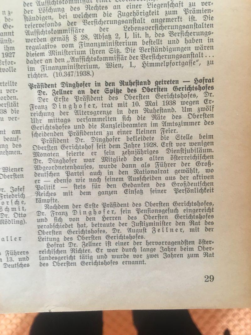 Deutsches Recht in Österreich, 1/2 (1938, S.29)