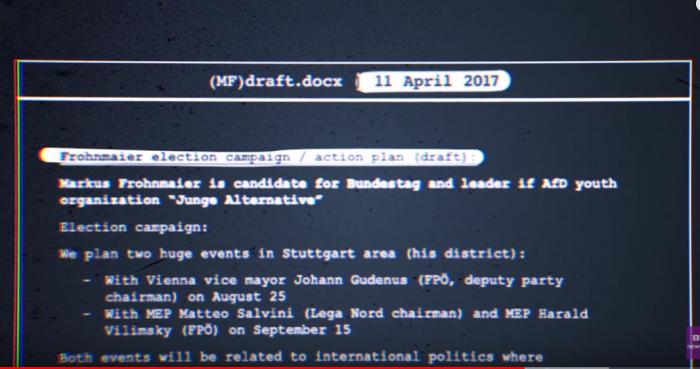 Strategiepapier zur Wahl von Markus Frohnmaier (AfD)