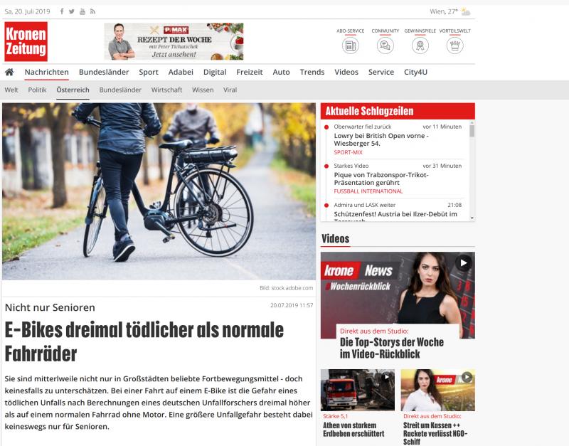 Falschmeldung zum Thema E-Bike